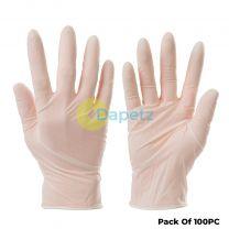 100 Pc Disposable Vinyl Gloves Lightly Powdered Non-Sterile Latex Free Medium