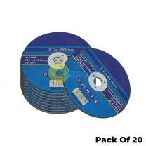 20 Pack 75mm X 1.6mm Metal Cutting Cut Off Discs 9.5mm Bore High Quality