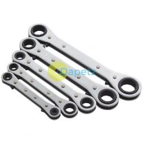 Heavy Duty 5Pc Af Imperial Reversible Ratchet Ring Spanner Wrench Set
