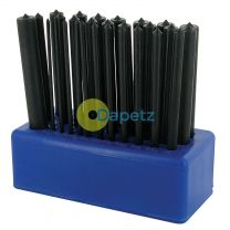 """28Pce Transfer Punch Set 3/32"""" - 17/32"""" (2.4-13.4mm) Precision Marking"""