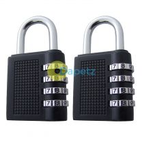 2 X Resettable Combination Padlock Lock Gym, School Locker, Sheds, Toolboxes