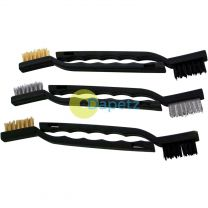 6Pc Mini Wire Brush Set Nylon Brass Steel Brushes Cleaning 175mm