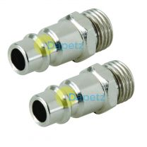 """2 Male Quick Release Euro Compressed Air Line Coupler Connector Fitting 1/4"""" Bsp"""
