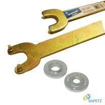 Replacement Angle Grinder Inner, Outer Flange Nut & Pin Key Set M14
