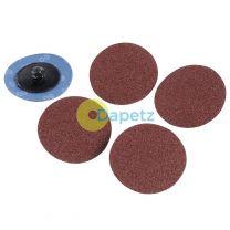 Quick-Change Sanding Discs Set 75mm 5 Piece Set Grit 60 Aluminium Oxide