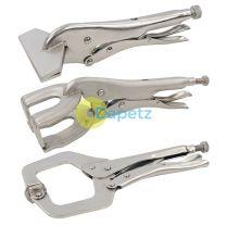 3Pce Welding Clamp Set Vice Grip Locking Metal C Pilers Adjustable DIY
