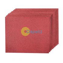 Hand Sanding Sheets Grit 80 10Pk Aluminium Oxide High Quality Metal & Wood