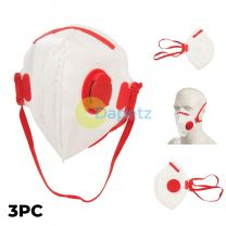 3 X FFP3 Protective Face Mask - Paint Spray- Complies With EN149-2001