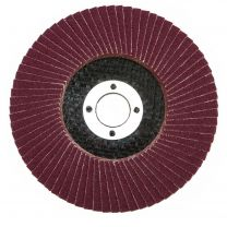 "10 X Flap Sanding Discs 115mm 60 120 Grit Aluminium Oxide 4.5"" Angle Grinder Mix"