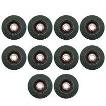 10 X Flap Sanding Discs 115mm 40 60 Grit Zirconium Oxide 4.5