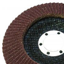 10 X Flap Sanding Discs 115mm 40 60 Grit Aluminium Oxide 4.5