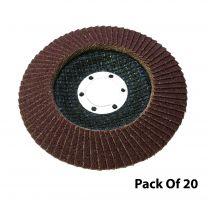 "10 X Flap Sanding Discs 115mm 80 120 Grit Aluminium Oxide 4.5"" Angle Grinder Mix"