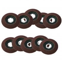 "10 X Flap Sanding Discs 115mm 40 60 Grit Aluminium Oxide 4.5"" Angle Grinder Mix"