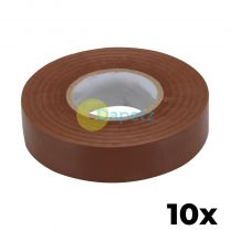 10 x PVC Insulation Electrical Tape Flame Retardent Brown