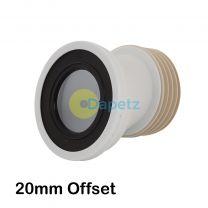 110mm Offset Pan Connector Strong Polypropylene Construction 20mm Offset