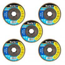 10 X Flap Sanding Discs 115mm 80 120 Grit Zirconium Oxide 4.5