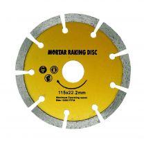 "Mortar Raking Disc Diamond Pointing Raker Disc 230mm 41/2"" Angle Grinder Blade"