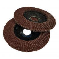 "10 X Flap Sanding Discs 115mm 60 80 Grit Aluminium Oxide 4.5"" Angle Grinder Mix"