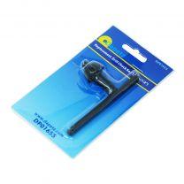 Drill Chuck Key 12 Teeth Steel Replacement for 1.5mm to 13mm Chuck Key 6mm Pilot Spanner Black for Hammer Drill Pillar Drill Press