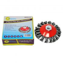 """4"""" 100mm Twist Knot Wire Brush / Wheel 115mm For Angle Grinder Sanding M14"""
